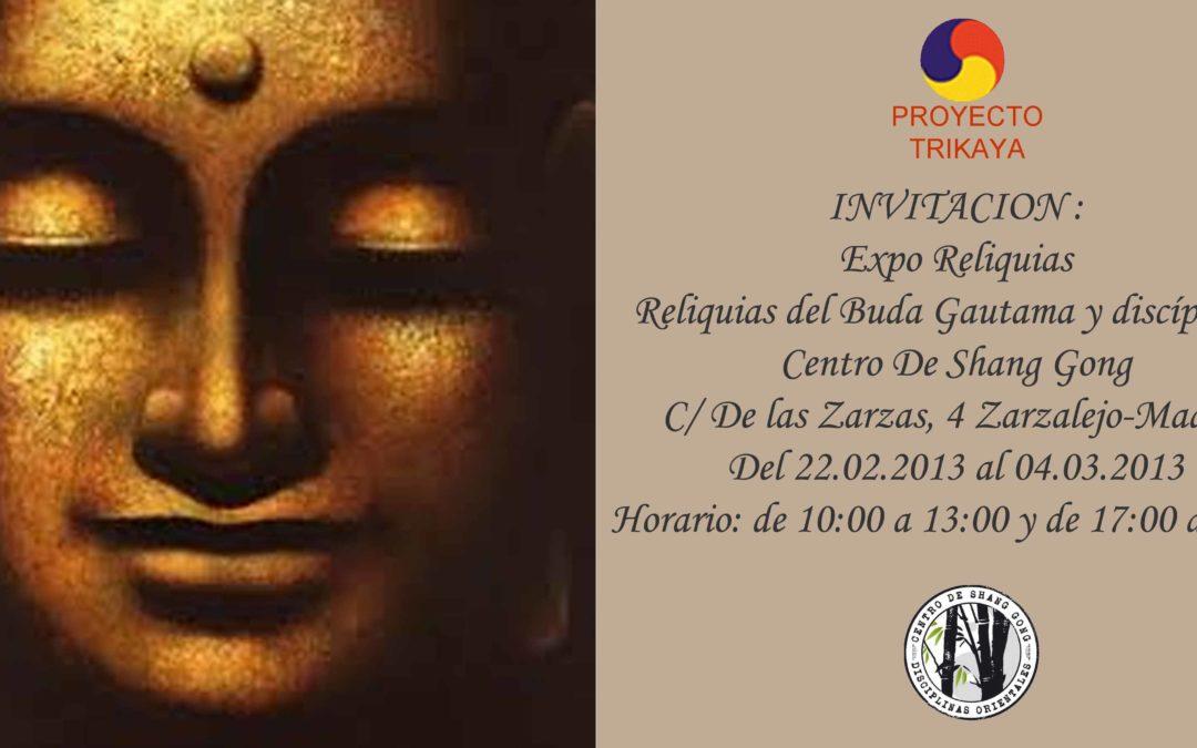 Las Reliquias del Buda Gautama y discípulos